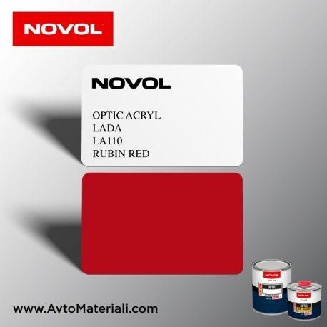 Акрилна боя Novol 110 Rubin Red (рубинено червен)