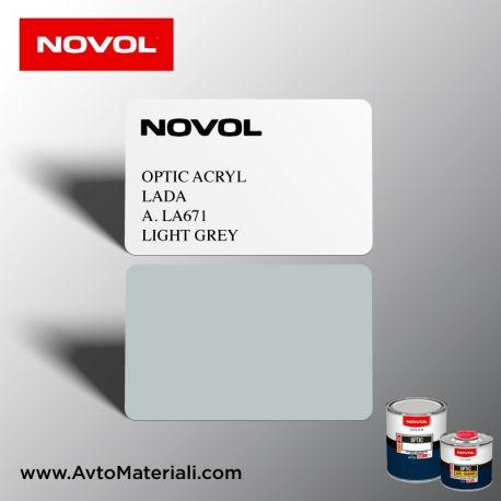 Акрилна боя Novol 671A Light Grey (сив) Алтернативен цвят