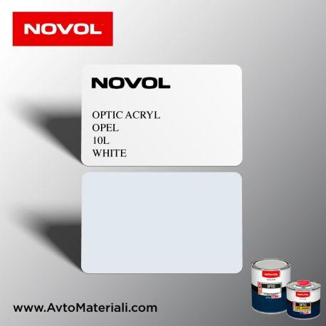 Акрилна боя Novol Opel 10L White (бял)