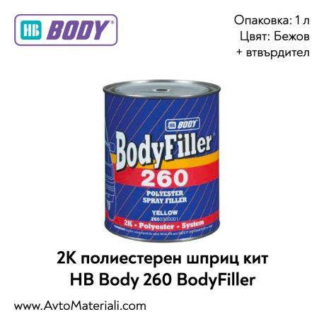 Шприц кит HB Body 260 BodyFiller