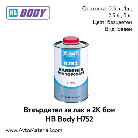Втвърдител за лак и 2К бои HB Body H752