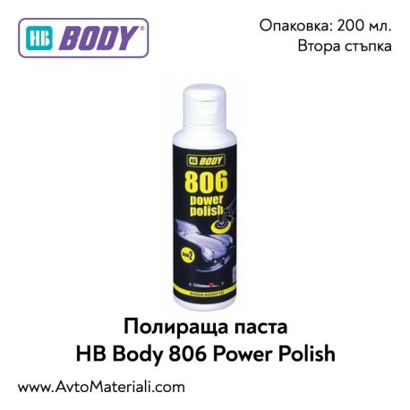 Полираща паста HB Body 806 Power Polish - 200 мл.