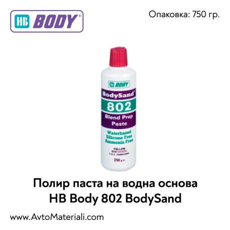 Полираща паста на водна основа HB Body 802 BodySand