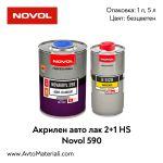 Безцветен акрилен лак 2+1 - Novol 590 HS
