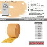 Smirdex жълта шкурка руло - h116 мм