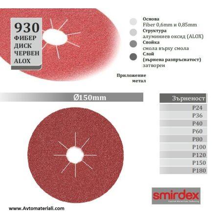 Фибер диск - Ф 150 мм