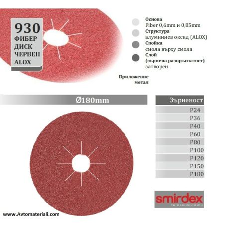 Фибер диск - Ф 180 мм